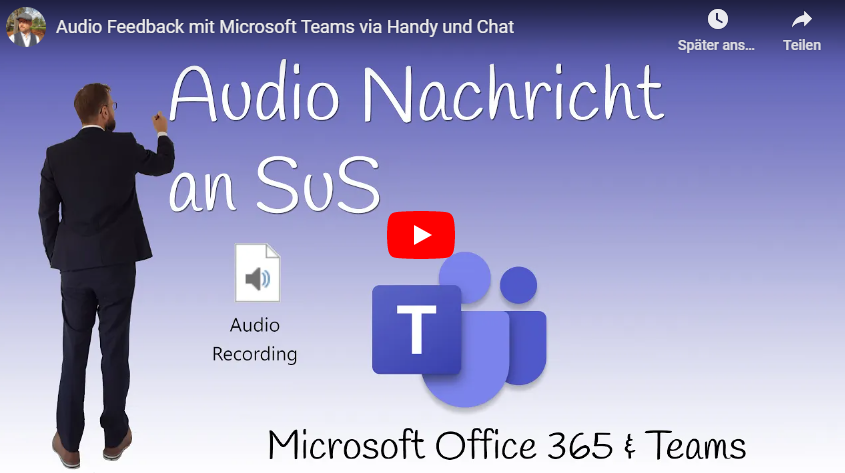 Audio Feedback mit Microsoft Teams via Handy und Chat