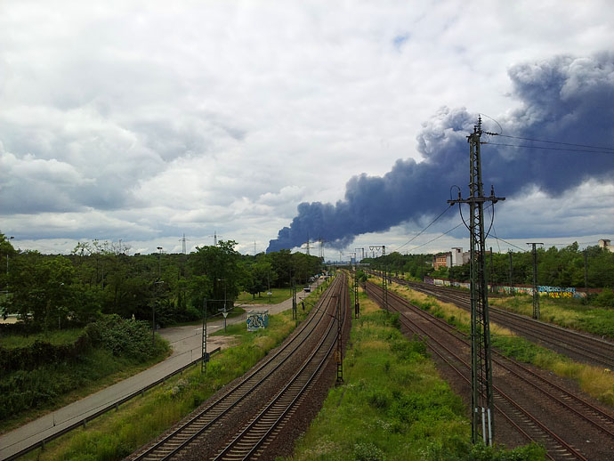 Brand in Ludwigshafen